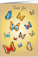 Thank You, Kidney Donor, butterflies card