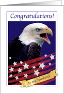 Congratulations, permanent resident, husband, USA, eagle card