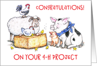 Congratulations on 4-H Project card