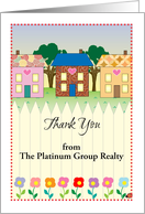 Custom Name Thank You, real estate company card