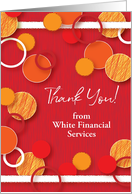 Custom Name Financial Services Thank You card