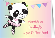 Congratulations, Granddaughter, 1st Recital, Panda card