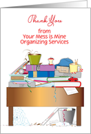 Custom Business Thank You, from Organizer, Desk card