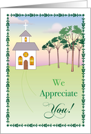 Pastor's Wife Appreciation, Church, Trees card