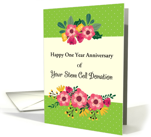 Custom One Year Anniversary, Stem Cell Donor card (1630000)