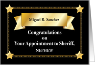 Nephew Custom Congratulations, Sheriff, Relation Specific card