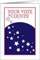 Remember Your Vote Counts Message card