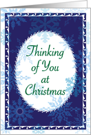Christmas, Thinking of You, Remembrance card