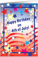 Birthday 4th Of July Card