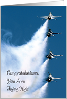 Congratulations / Air Force Commission card