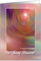 Congratulations / Being Honored card