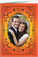 Halloween Wedding Photo Card, blank card