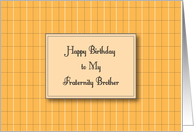 Birthdays / To Fraternity Brother card