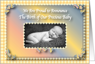 Photo Card Birth Announcement card