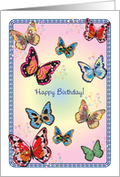 Birthday / Butterflies card