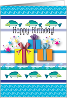 Birthday / For Fishing Fan, presents card