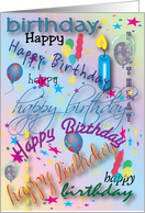 Happy Birthday, to Sponsor, candle card
