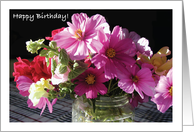 Birthday, for Volunteer, flowers card