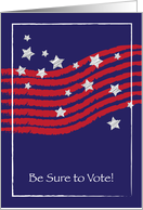 Be Sure to Vote Stars and Stripes card