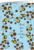 Thank You for Visiting me in Hospital card