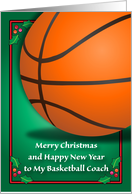 Merry Christmas to Basketball Coach card