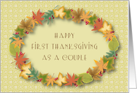 1st Thanksgiving as a Couple, wreath card