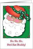 Christmas to Red Hat Buddy, Santa card