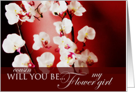 Will you be my Flower Girl Cousin? card