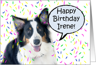 Happy Birthday Aussie, Irene card