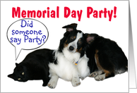 It's a Party, Memorial Day Party card