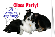 It's a Party, Class Party card
