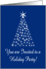 Starlight Christmas Tree Invitation Holiday Party card