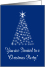 Starlight Christmas Tree Invitation Christmas Party card