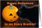 Happy Halloween Brother card