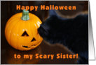 Happy Halloween Sister card