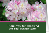 Flowers, Real Estate Team card