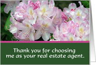 Flowers, Real Estate Agent Thanks card