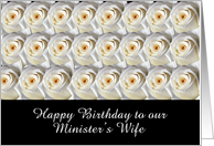 Two Dozen Roses, Minister's Wife card