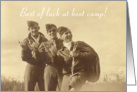 Three Servicemen, Boot Camp card