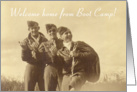 Three Servicemen, Welcome Home Boot Camp card