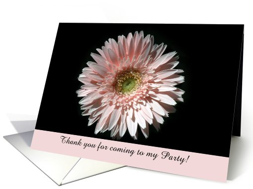 Pink Daisy, Party Thank You card (495988)