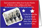 Veteran's Day, Each Generation card