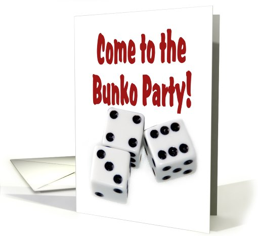 Come to the Bunko Party card (624546)