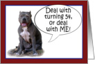 Pit Bull, Deal with it! Turning 54 card