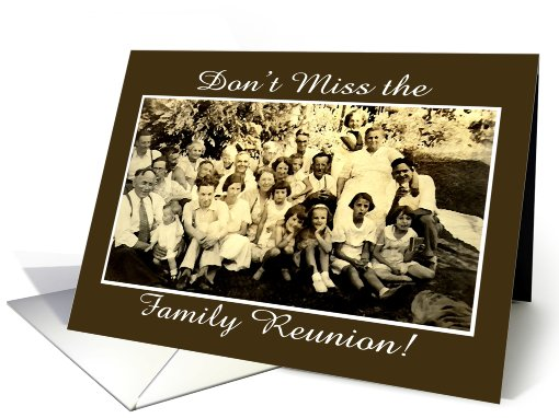 Family Reunion Invitation card (631659)