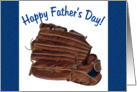Baseball Mitt, Happy Father's Day card