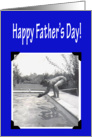 Vintage Diver, Happy Father's Day card