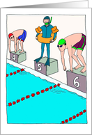 Novice Swimmer : Funny Birthday Card