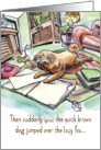 Revisionist Pug : Funny Birthday card