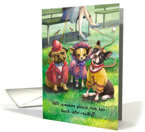 Dressed Up Dogs : Funny Birthday card (476615)